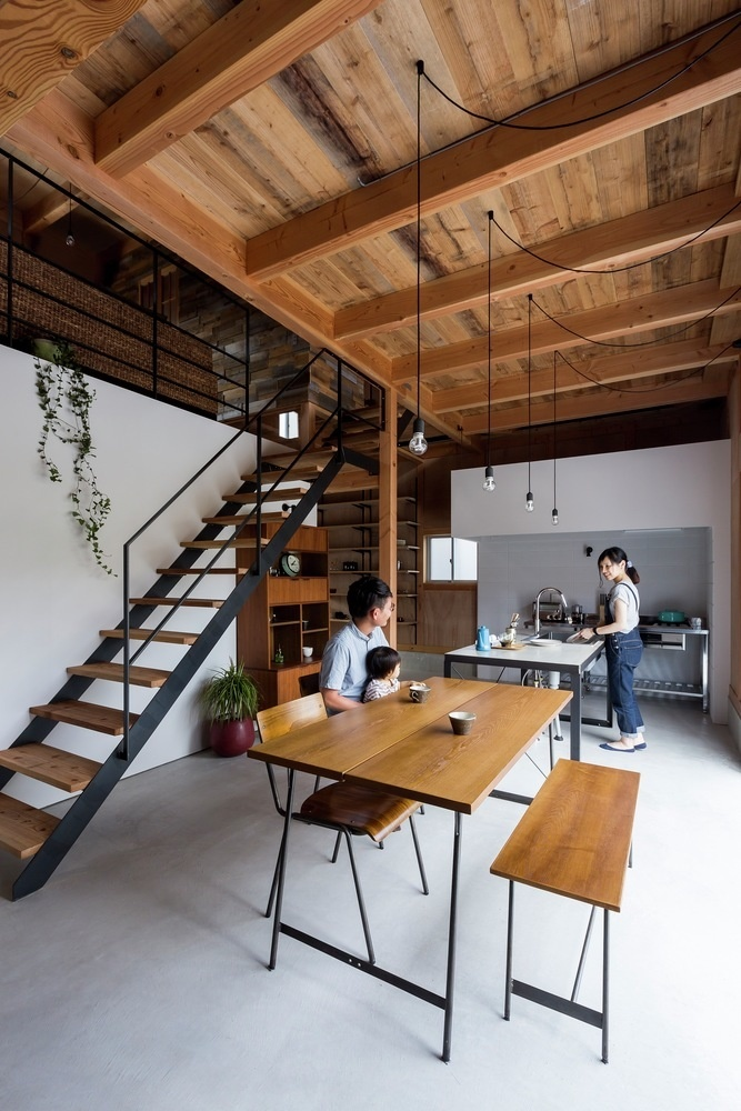 New house designed to look like a renovated warehouse