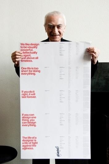 The Five Vignelli-isms by Massimo Vignelli