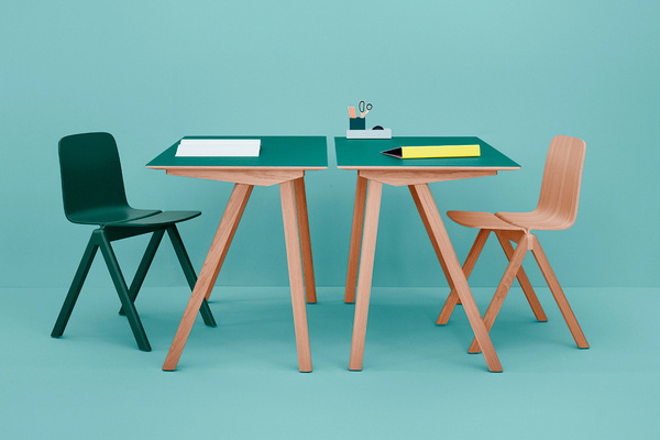 HAY X RONAN & ERWAN BOUROULLEC: COPENHAGUE #chair #design #set #wood #furniture #industrial #desk