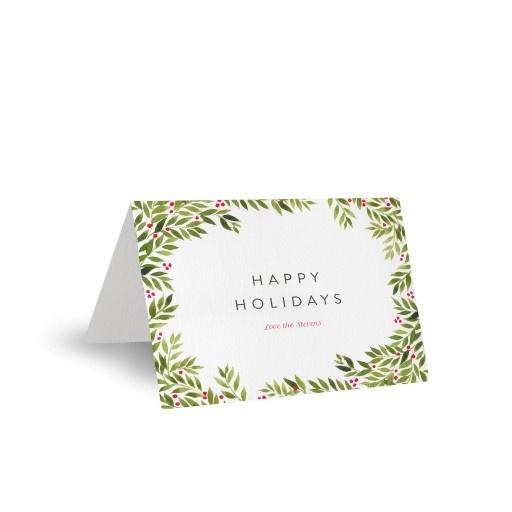 Christmas Wreath - Christmas Cards #paperlust #christmas #holiday #christmascard #cards #card #holidaycard #photocard #photo #design #print