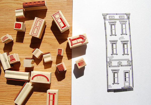 Paper Neighborhood #stamps #rubber