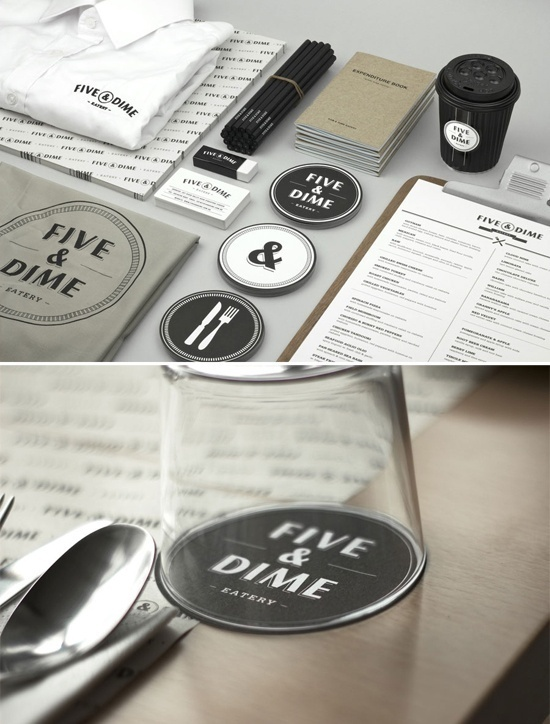Amazing, full restaurant branding for Five & Dine. Think about branding, all the way down to the details. #catering