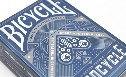 Robocycle Playing Cards | Duct Tape and Glitter #glitter #tape #bicycle #card #playing #duct #illustration #mid #century #modernism