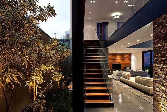 Luxury Vila Madalena with Smooth Indoor Decor concrete structures #stairs #interior #design