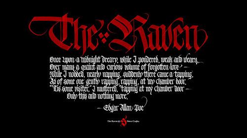 The Raven Wallpaper #calligraphy #theraven #gothic #steveczajka
