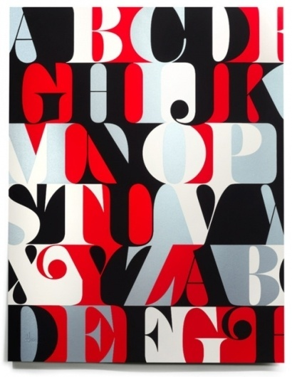Typeverything.com Caslon Alphabet Print by House... - Typeverything #caslon #typography