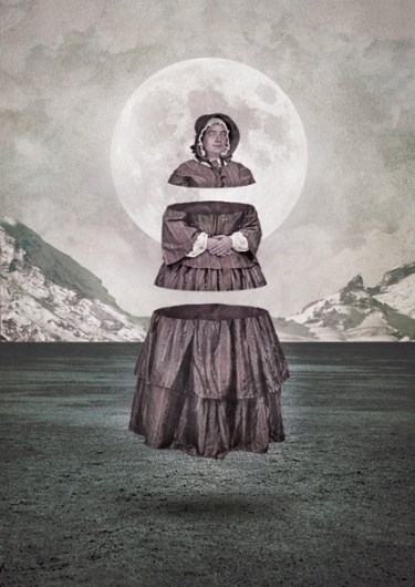 III SACRED PARTS on the Behance Network #victorian #neeko #vintage #buenos #grunge #collage #divided #aires #moon