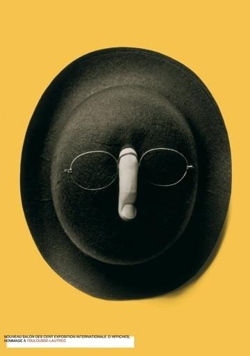 Carteles : Isidro Ferrer #glasses #ferrer #huesca #spain #toulouse #lautrecl #isidro #hat #poster #finger