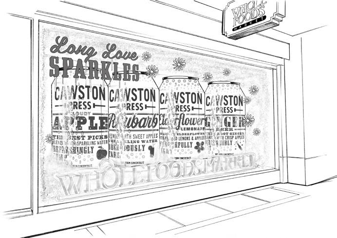 Cawston Press Wholefoods window display