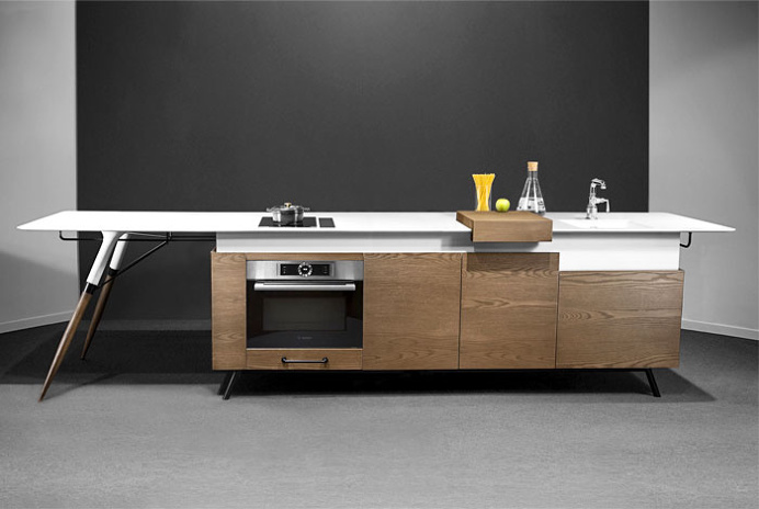 Compact Kitchen Design by Irena Kilibarda - #design, #furniture, #modernfurniture,