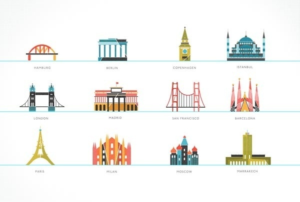 Tiny Buildings Illustrated by Kelli Anderson #cities
