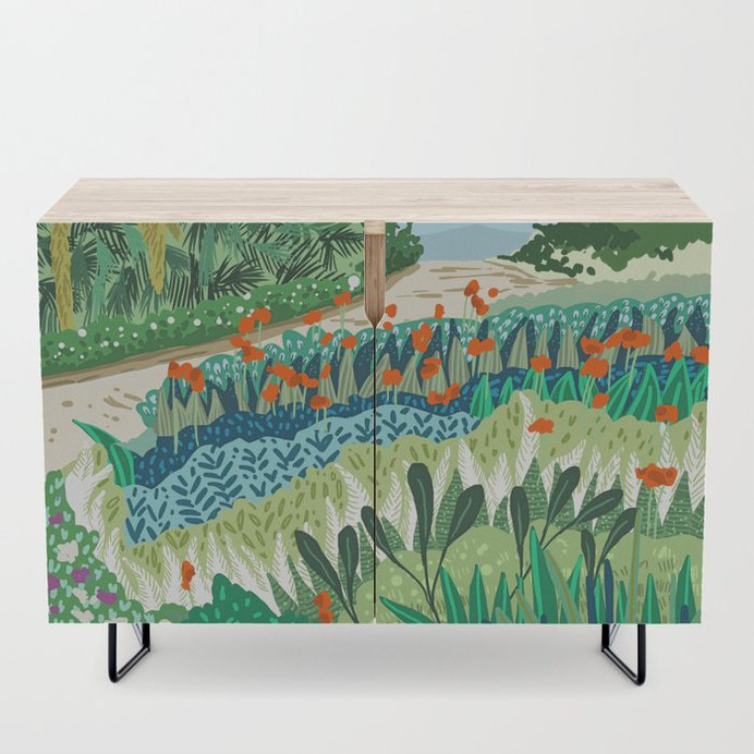 Solo Walk #illustration #nature Credenza #furniture #homedecor #credenza #wood #society6 #83oranges
