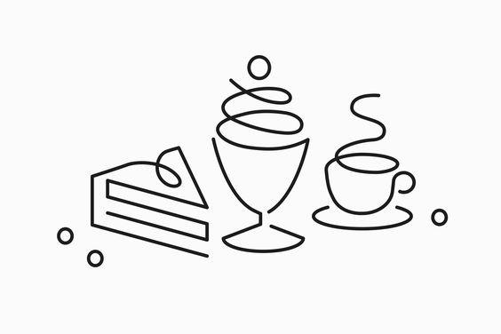 Erik Penser Bank Cookbook by Bedow, Sweden #icon #icondesign #oneline #line #lineicon #breakfast #iconset #illustration #graphicdesign #coff