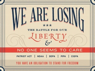 Dribbble - We Are Losing the Battle For Our Liberty by Benjamin Friesen #political #politics #classic #graphic #type #typography