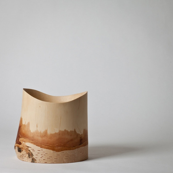 Birch wine cooler hand made by the Japanese designer Kota Fukunaga #vine #container #cooler #wood #vessel #nature