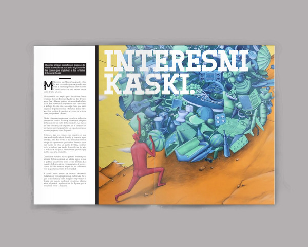 Editorial. 03 on Behance #mag #print #design #issues #type #editorial #magazine