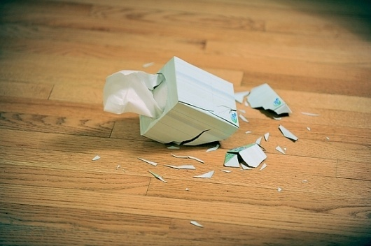 Make Something Cool Every Day 2009 on the Behance Network #tissue #shattered #box