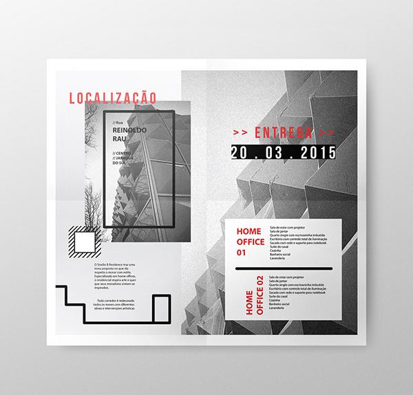 Studio B Residence on Behance #flyer #design #graphic #home #brand #art #paper