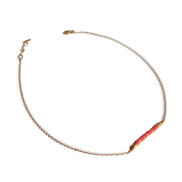 Fragilités Necklace Coral gold, jewelry, coral #jewelry #necklace