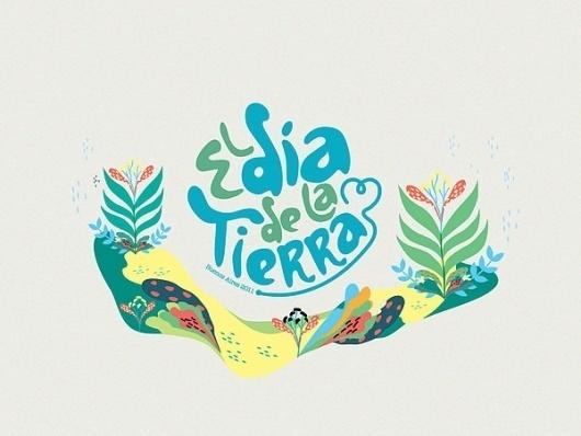 Festival Dia de la Tierra on the Behance Network #logo #illustration #branding