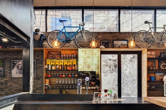Factory 5 Bike Shop by LINEHOUSE #interior #shop #design