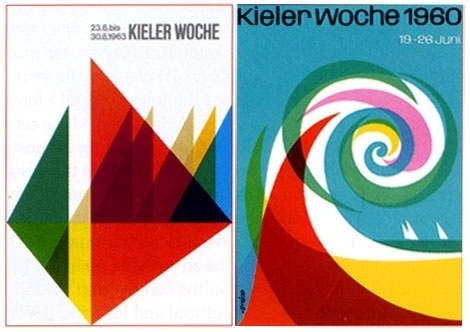 grain edit · German poster design : Kieler Woche #univers #print #germany #posters #midcentury