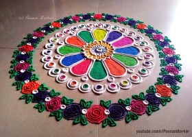 Flower pattern rangoli design