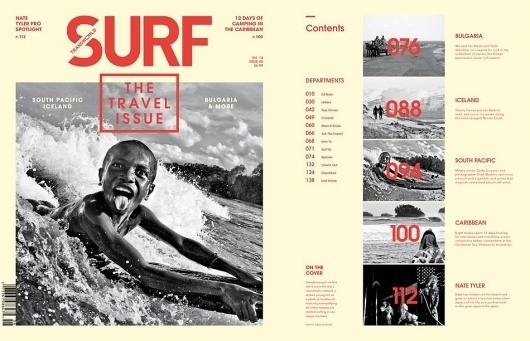 Introducing The 2012 Travel Issue #cover #print #layout #magazine