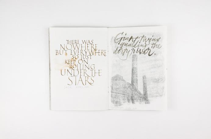 Joan Quirós - #Sketchbook #calligraphy #kerouac