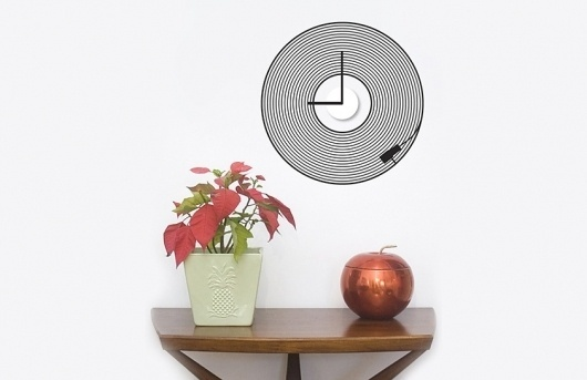 Butter #turntable #home #record #vinyl #needle #wall #music #clock #sticker #plant