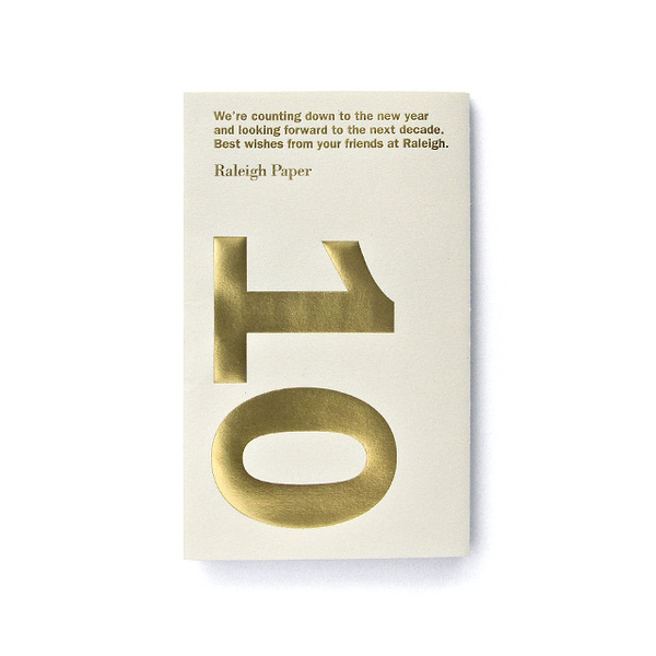 Raleigh Paper Dave Foster : Portfolio #invite #emboss #invitation #big #number #gold #type #foil
