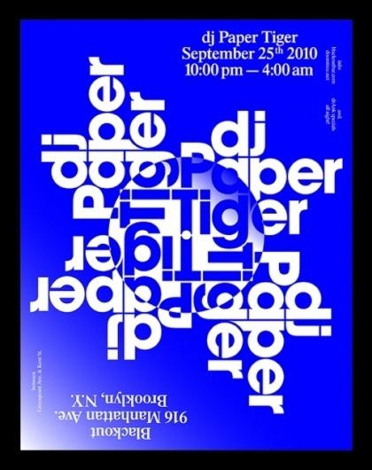 Paper Tiger — Vance Wellenstein #flyer #experimental #poster #typography