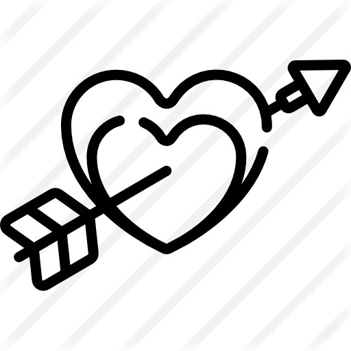 See more icon inspiration related to love and romance, shapes and symbols, valentines day, lovely, cupid, romanticism, romantic, heart, love and arrow on Flaticon.