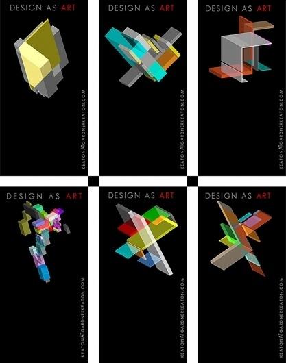 Design as Art - minimal business cards #isometric #illusion #branding #design #graphic #geometric #identity #art #logo