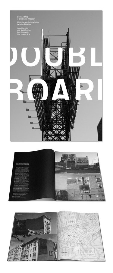 Double Take brochure #print #typography #layout #photography #black and white