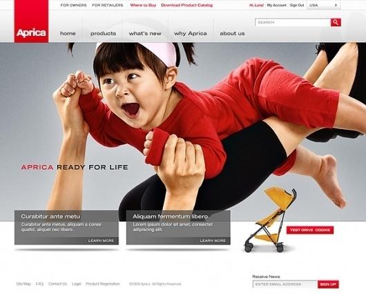 Aprica on Web Design Served #bvnvbn