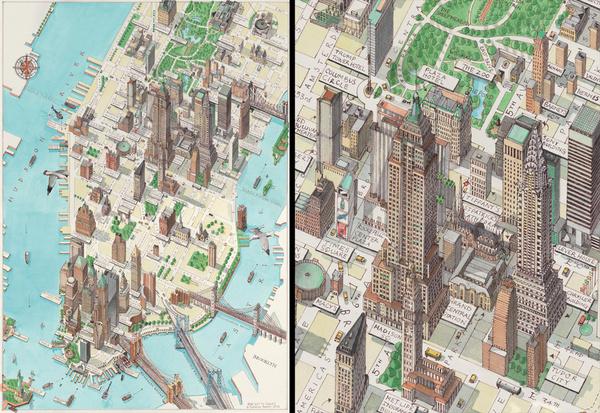 – Manhattan Map #illustration #manhattan #map