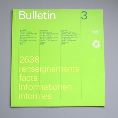 Design by Otl Aicher and Rolf Müller #otl #design #graphic #aicher #olympics