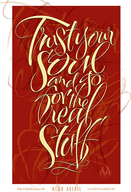 Trust Your Soul #layered #composition #texture #type #typography