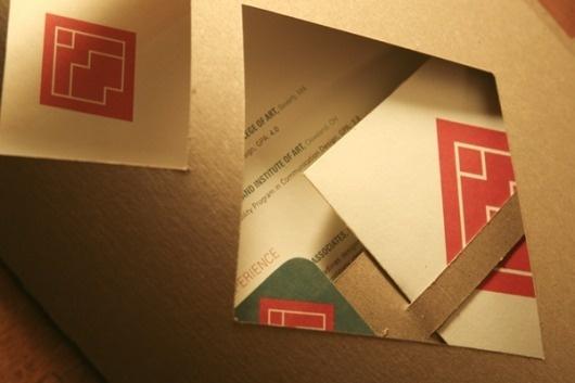 Identity Redesign on the Behance Network #cut #branding #retro #resume #envelope #vintage #chipboard #di #logo #folder