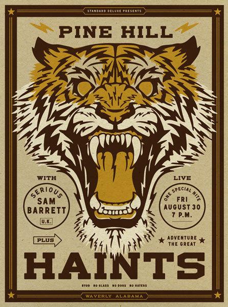 GigPosters.com - Pine Hill Haints - Serious Sam Barrett #screen #gig #print #poster