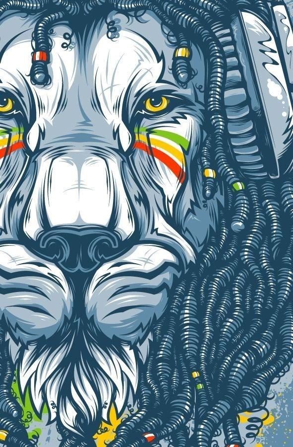 Jah by Andrey Krasnov #inspiration #illustration #lion #king