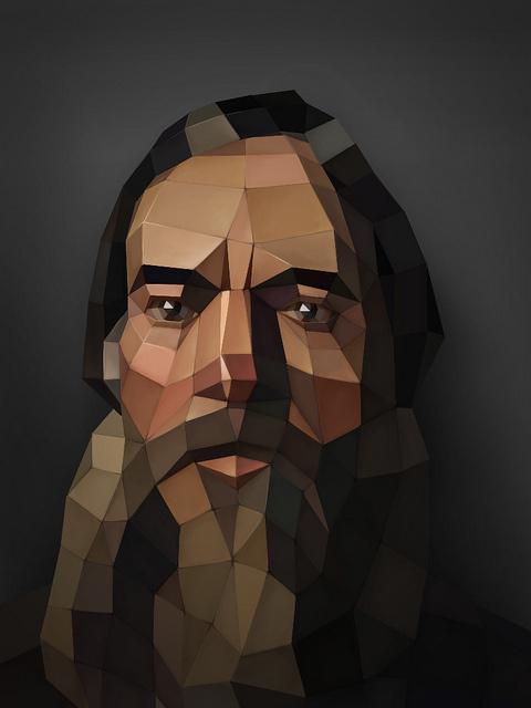 Nikolai Ge – Portrait of a bearded peasant | Inspiration DE #digital #portrait #3d #art