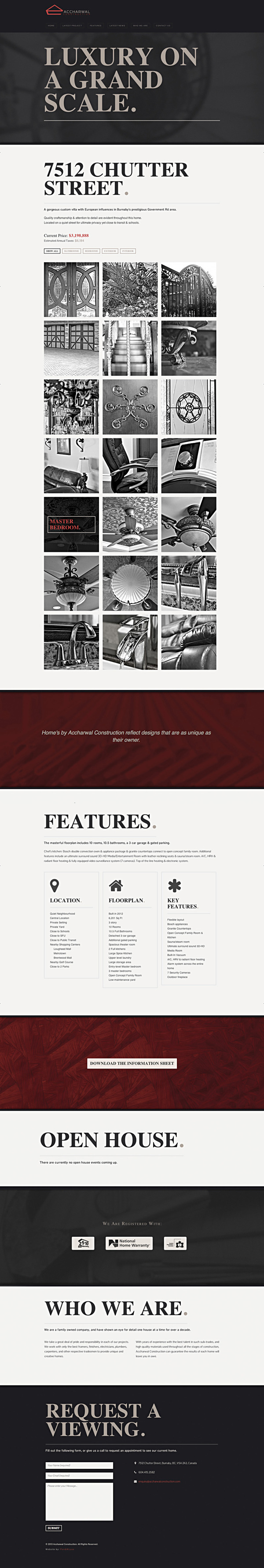 Accharwal Construction - One Page Website #interactive #page #construction #one #responsive #design #header #home #website #large #real #parallax #single #estate #typography