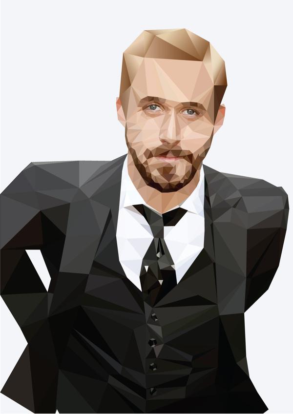 Digital Illustration - Ryan Gosling on Behance #abstract #ryan #design #illustration #portrait #art #gosling