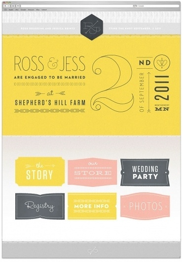 We are a graphic design studio in Minneapolis. This is our blog. | Studio MPLS #wedding #web #typography