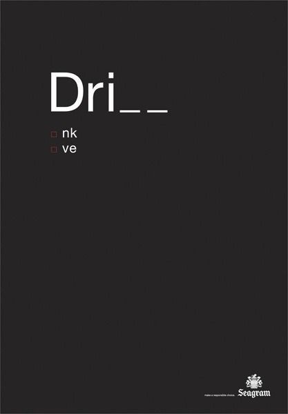 drink and drive | Ad & Concept #advertisement #negativesapce #typography