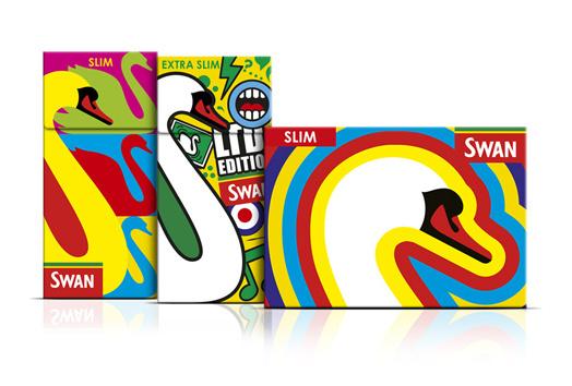 SWAN LTD CREDS 4 #tobacco #illustration #box