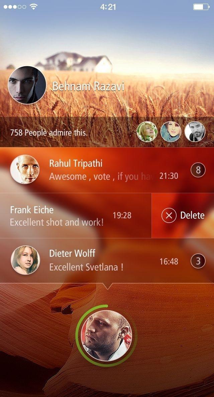 Lockscreen app #ux #design #ui #app #ios