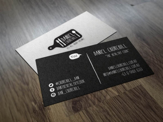 Best business cards chef card images on designspiration chef business card colourmoves